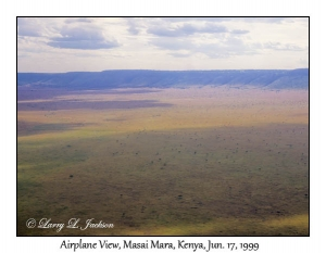 Masai Mara, Airplane View