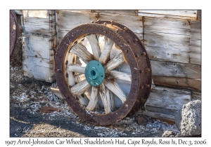 1907 Arrol-Johnston Car Wheel