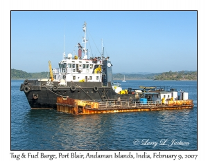 Tug at Fuel Barge