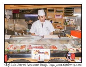 Chef at Sushi-Zanmai Restaurant