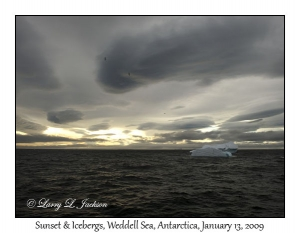 Weddell Sea Sunset