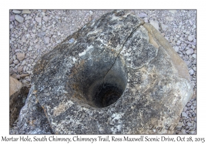Mortar Hole, South Chimney