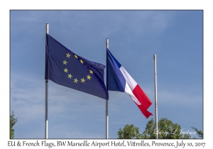 European Union and French Flags
